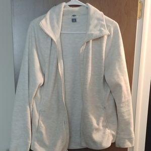 Old Navy white/cream Fleece zip sweatshirt